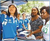 北京城市志愿者热情服务