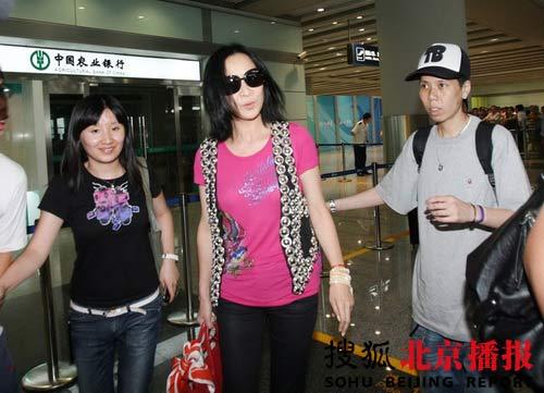 刘嘉玲应搜狐公司董事局主席兼首席执行官张朝阳先生之约,昨日抵达北京