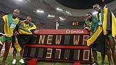 男子4X100米接力牙买加破纪录夺冠