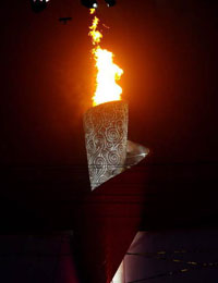 北京残奥会主火炬点燃