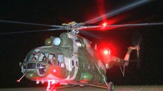 寻找神七飞船返回舱用的直升飞机