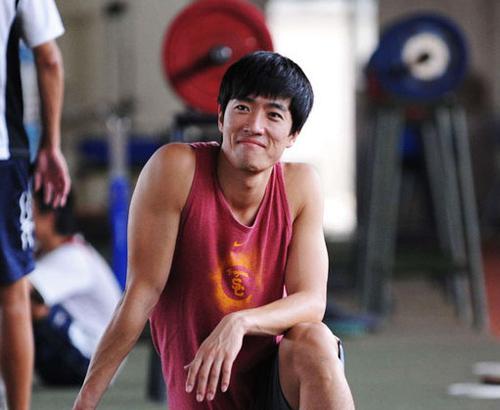 又见刘翔自信的笑容