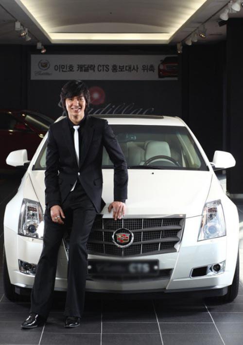 李民浩成为名车代言人